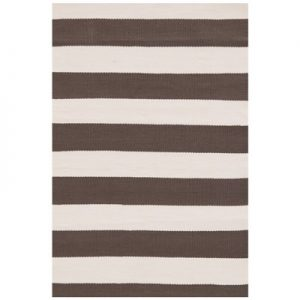 Catamaran Stripe Charcoal Ivory Indoor Outdoor Rug