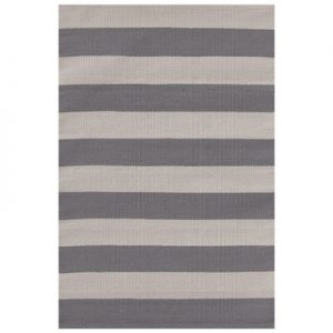 Catamaran Stripe Graphite Fieldstone Indoor Outdoor Rug
