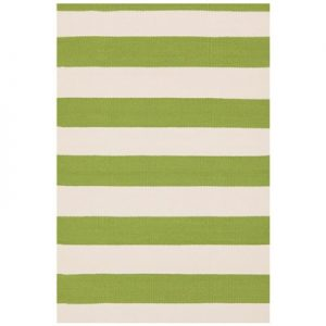 Catamaran Stripe Sprout Ivory Indoor Outdoor Rug