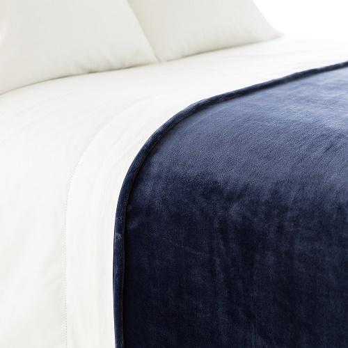 Fleece Indigo Blanket