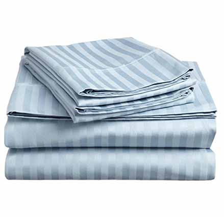 Boat Sheets 600 Thread Count Egyptian Cotton Stripe Sheet