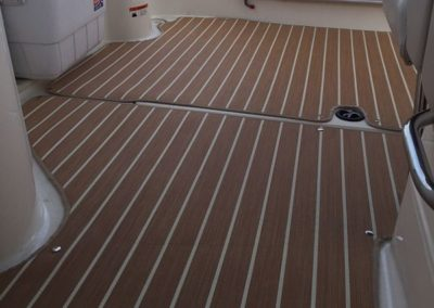 Yacht Flooring Brown Stripes1