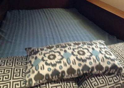 Yacht Bedding Dark Grey and Blue Flowers