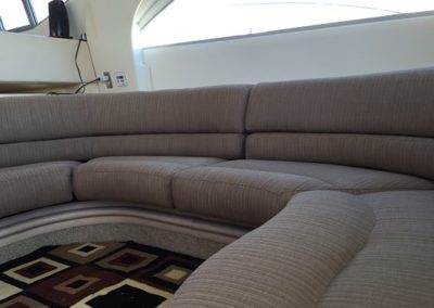 Yacht Upholstery Grey Round Bench