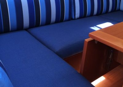 Yacht Upholstery Royal Blue Solid and Stripes