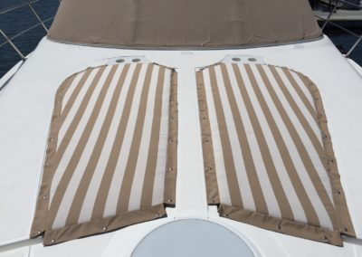 Yacht Upholstery Beige Stripes Outdoor