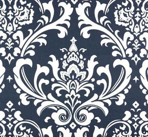 Damask Cobalt Bedcover & Shams