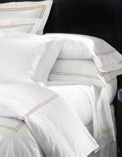 Grand Hotel Duvet and Shams White Taupe