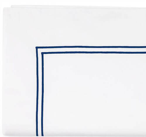 Grand Hotel White/Navy Sheet Set