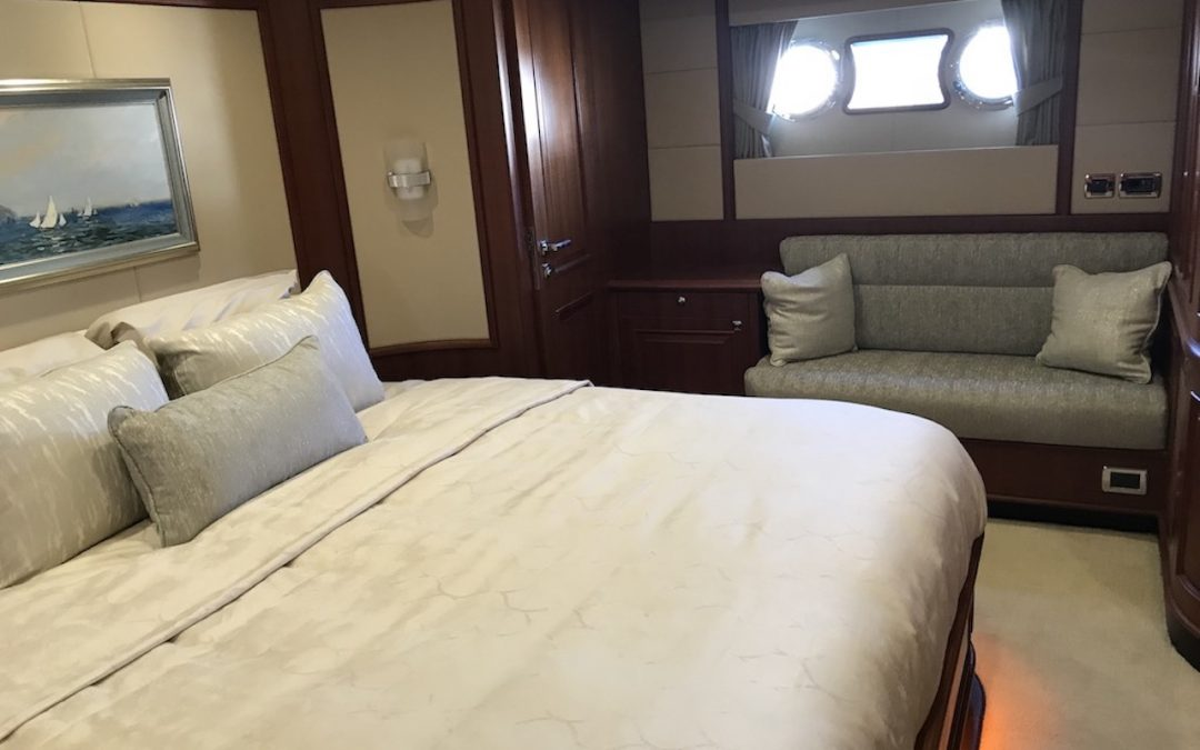 Overhaul on a Hampton 720 Yacht Interior