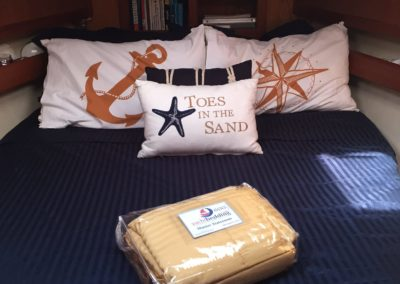 Yacht Bedding Pillows Anchor, North Star, Toes in the Sand