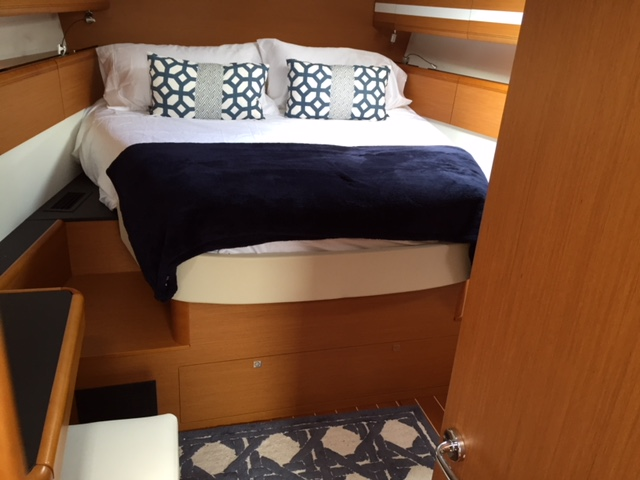 Comfortable Toppers and Bedding in a Jeanneau 53