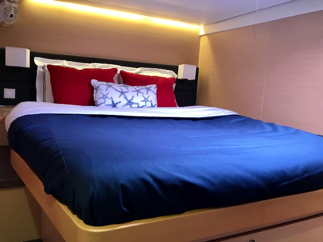 Classic Bedding for a Lagoon Catamaran