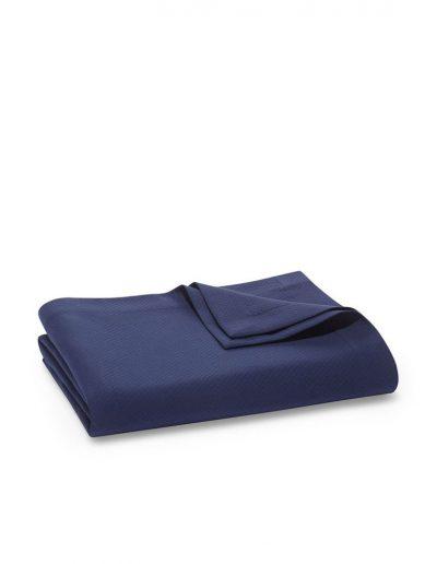 Matouk Elliot Navy Blanket