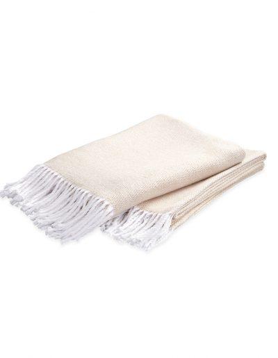 Matouk Pezzo Champagne Throw Blanket