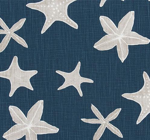 Sea Stars Navy Throw Pillow