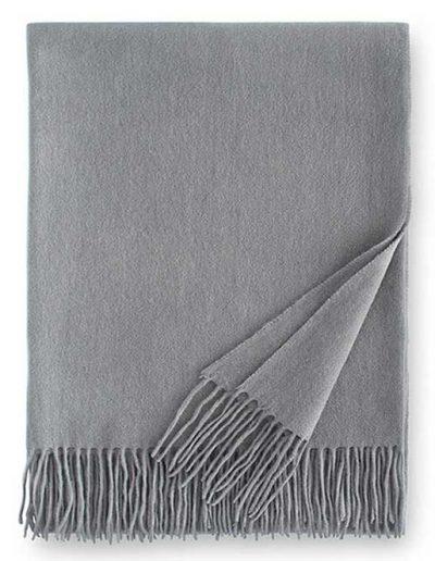 Sferra Dorsey Cashmere Throw Blanket Silver
