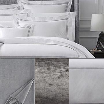 Sferra Grand Hotel Duvet Grey White Package