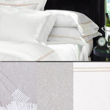 Sferra Grand Hotel Taupe White Duvet Package