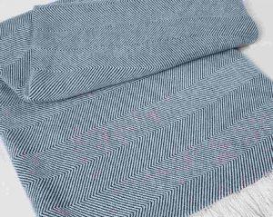 Sunbrella Throw Blanket - Indigo