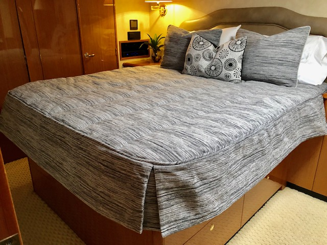 Custom Mattresses and Bedding for a Viking 61 Sport Fish