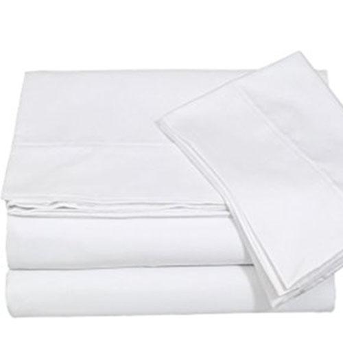 Red Land White Sheet Set