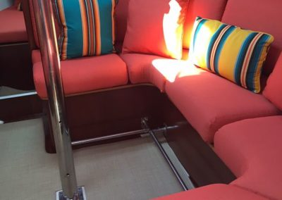 Yacht Upholstery Salmon Corner Bench