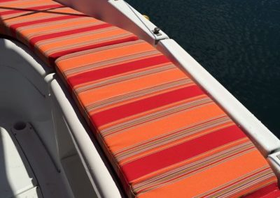 Yacht Upholstery Orange Stripes Outdoor Seating