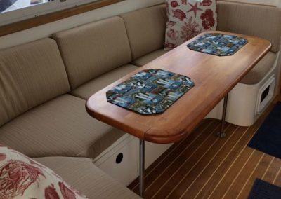 Yacht Upholstery Beige Corner Bench