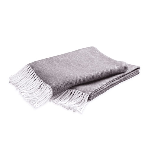Matouk Pezzo Charcoal Throw Blanket